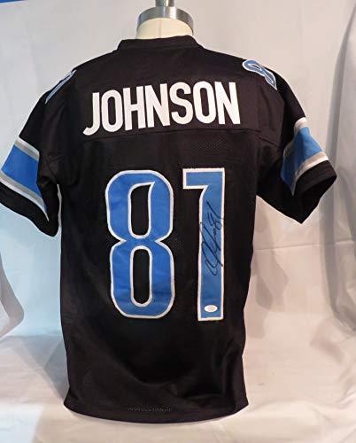 Calvin Johnson Black Signed Detroit Lions Autographed Custom Jersey JSA