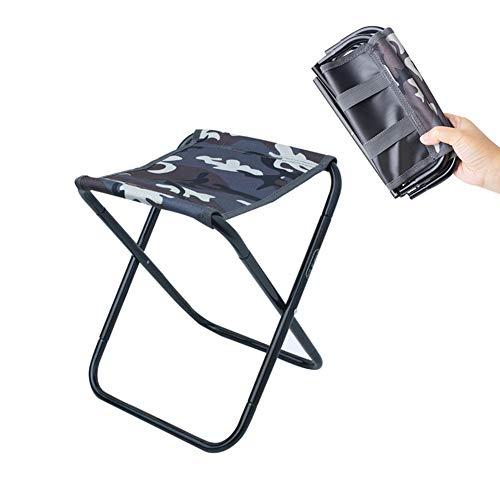 Mini-tabouret pliant portatif - Chaise pliante d'extérieur - Livré avec un sac de rangement portatif en plein air pour BBQ, Camping, Pêche, Voyage, Randonnée, Jardin, Plage,Camouflage,9x10s11in