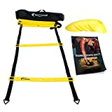 Trained Agility Ladder Bundle 6 Sports Cones, Agility Drills eBook and Carry Case