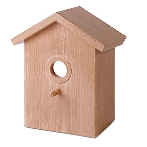 Maufy Pajarera de madera salvaje con ventosas, suministro visible para pájaros al...