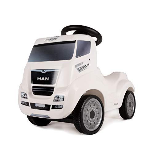 FERBEDO 054317 Truck, weiß, Rutschfahrzeug, Kinderauto Rutscher