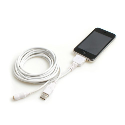 System-S DockConnector auf USB u. Sound - Kabel für Apple iPhone Classic 3G 3GS 4 iPod Touch 1G 2G 3G 4G