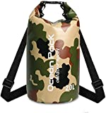Outamateur Waterproof Dry Bag with Exterior Zippered Pocket for Outdoors, Kayaking, Rafting, Surfing, Tubing, Boating, Beach, Camping, Hiking, Hunting, Fishing, Travel | 10L