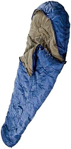 AB Extra Warmer Mumien Schlafsack 2 lagig 230 x 80 cm (Blau)