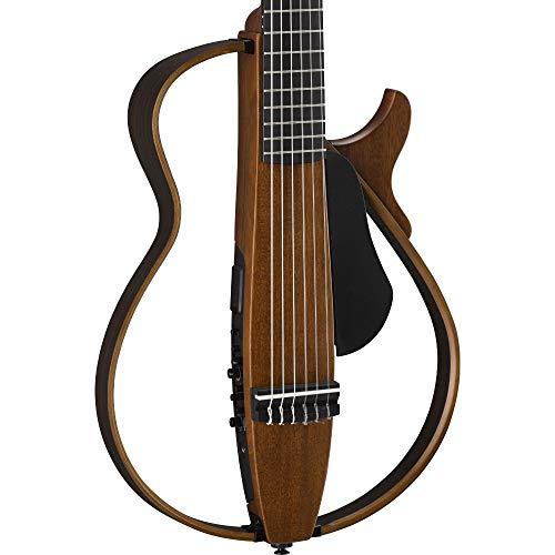 Yamaha SLG200N NT Nylon String Silent Guitar with Hard Gig Bag, Natural
