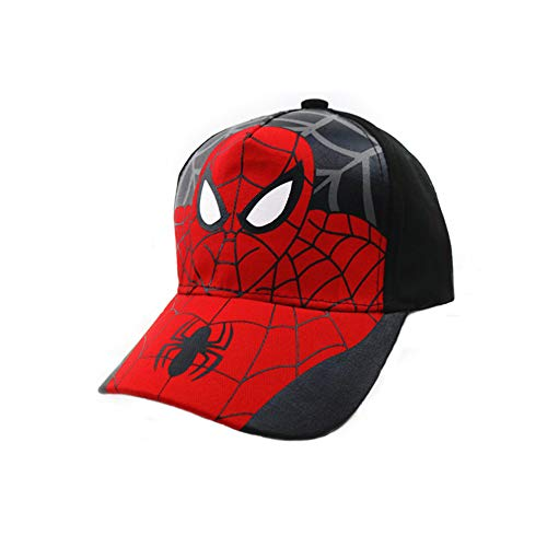BAOZOON Spiderman Cartoon Children Snapback Cotton Baseball Cap Kids Boys Girls Hip Hop Hat Spiderman Cosplay Hat, Black 1, One Size