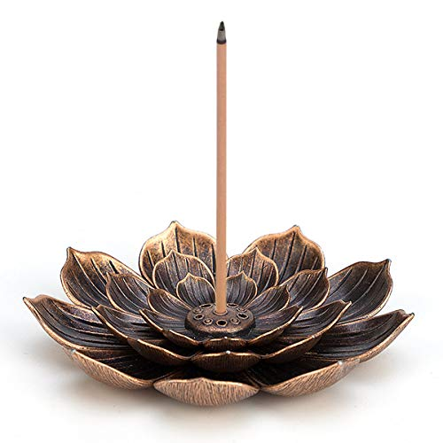 Brass Lotus Censer Stick Incense Holder Cone Incense Burner Ash Catcher Home Fragrance Accessories