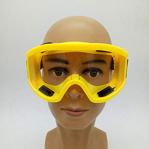 Realistisch gasmasker, Chemische stofmasker masker verf speciale anti-rook stof pesticide met een bril,Yellow