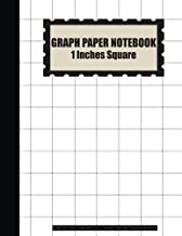 Graph Paper Notebook: 1 Inches Square Blank Quad Ruled - (Large Print 8.5