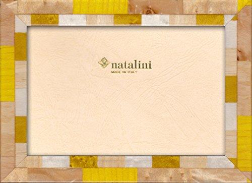 Natalini Marquetry fotoram tillverkad i Italien, tulpanträ, gul, 10 x 15 cm
