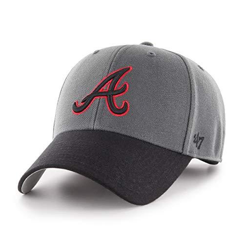 '47 MLB Atlanta Braves Cap Basecap Baseballcap MVP Kappe Charcoal Baseball