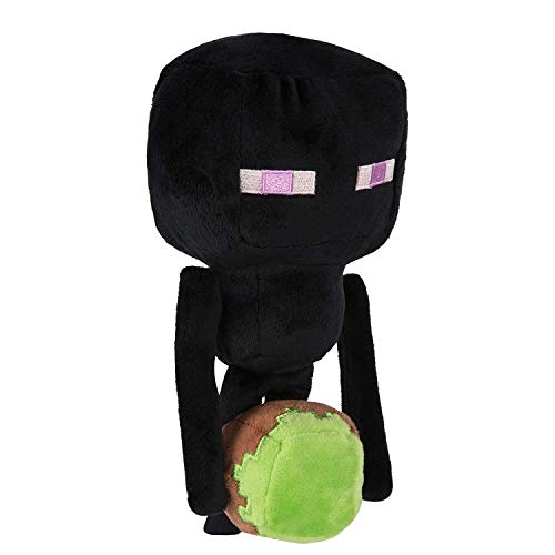 Minecraft Happy Explorer Enderman Plush Peluche, Color Negro