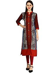 nayrah Womens Cambric Cotton Straight Kurti