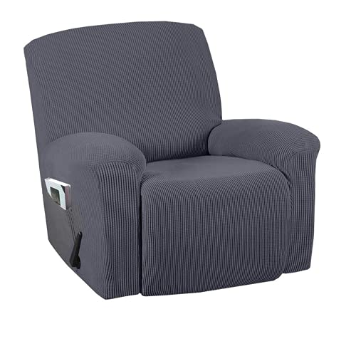 DWSM - Sofá de 1 plaza antideslizante para animales de compañía, extensible, grueso, reclinable, funda de sofá con bolsillo lateral antideslizante, lavable, funda de sillón (5)