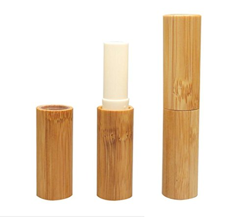 3PCS 3ML Empty Bamboo DIY Lipstick Lip Balm Gloss Tubes Containers Crayon Deodorant Tube Pipe Bottle Case Cosmetic Holder
