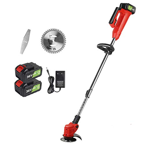 Best Review Of Zzmop Cordless Grass Trimmer with Battery, Charger & 1 x Stainless Steel Hacksaw – ...