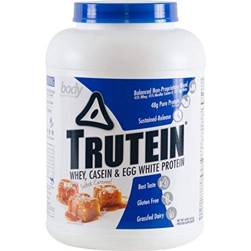 Trutein Salted Caramel 4lb Protein Shakes/Shake Meal Replacement Drink Mix Post/Pre Workout Shake Powder Breakfast Shake