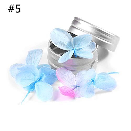 Haptian 5 stks Genageld Gedroogde Bloemen Echte Natuurlijke Bewaarde Verse Nagels DIY Ambachten Manicure Nagel Schilderen Accessoires 12 Types
