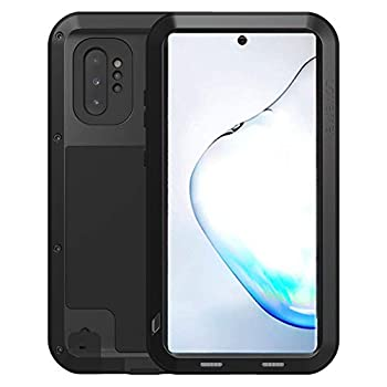 Mangix Galaxy Note 10 Plus Case,Armor Aluminum Metal Case Hybrid Soft Rubber Military Heavy Duty Shockproof Outdoor Defender for Samsung Galaxy Note 10 +/Plus/Pro 5G  Black