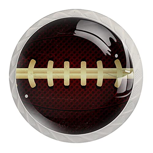 Juego de 4 pomos para puerta de rugby, estilo vintage, para cocina, baño, dormitorio, armario, cajones, tiradores de tiradores (4 unidades)
