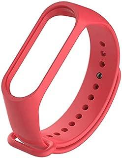 Jump Start Soft Silicone Mi Band 4 Strap Waterproof Wristband Strap Fashion Accessory Compatible for Xiaomi Smart Mi Band 4 and Mi Band 3 (Red)