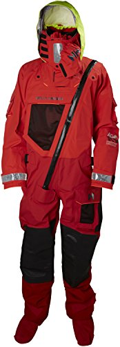 Helly-Hansen Men's Sailing Ægir Ocean Performance Survival Dry Suit, Alert Red, Large