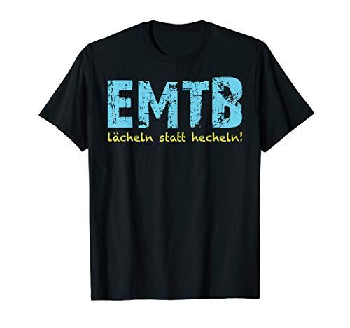 lächeln statt hecheln T-Shirt eMTB Biker Radfahrer eBike