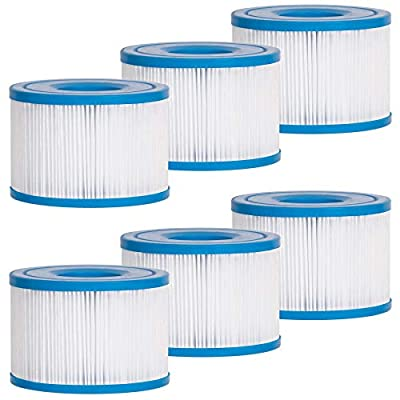 Future Way S1 Filters Spa Hot Tub Replacement, Purespa Inflatable Hot Tub Filters 11692, 6 Pack
