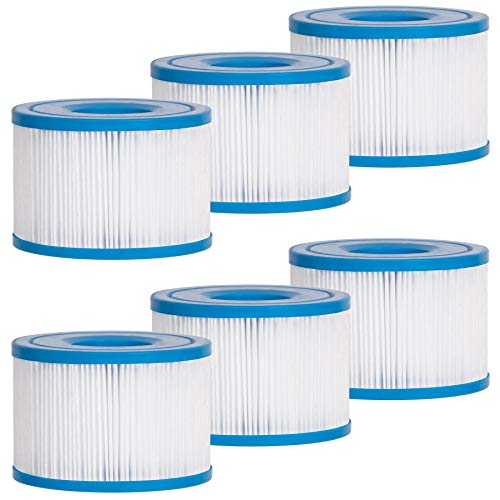 Future Way Type S1 Filters for Spa Hot Tub, Compatible with Intex PureSpa (6-Pack)