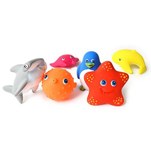 6 animaux de bain