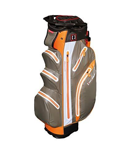 Score Industries Golf Cartbag Wasserdicht Farbe:Silber/Orange