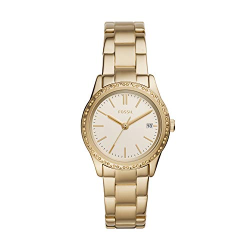Fossil Women's Adalyn Quartz Stainless Three-Hand Watch, Color: Gold (Model: BQ8007)