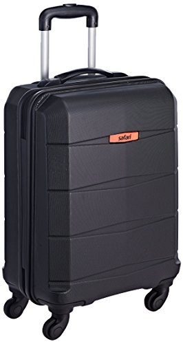 Safari Polycarbonate 56 Ltrs Black Hardsided Carry On (REGLOSS ANTISCRATCH 4W 55...
