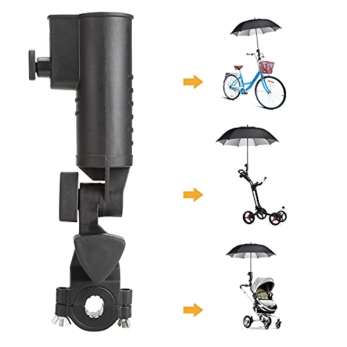 10L0L Newest Universal Golf Push Cart/Golf Trolley/Stroller/Bike/Wheelchair Umbrella Holder,Adjustable Angle with Clamp Mounting Attachment