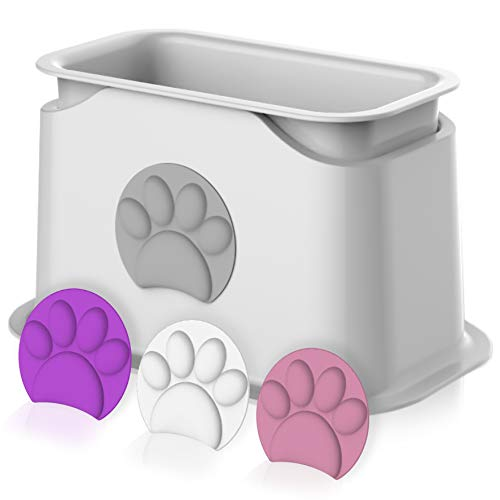 iPrimio Universal Cat Litter Scooper Holder  Durable with Heavy Scoopers Holding Stability  Modern Design Comes with Four Colored Paws  Works with All Metal and Plastic Scoopers