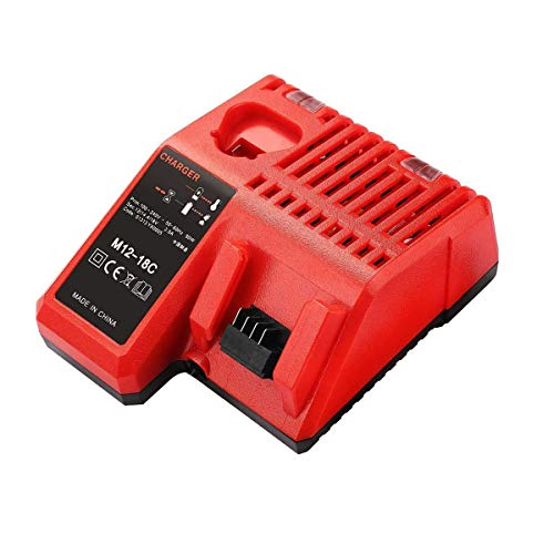 Cargador de repuesto M18 M12 12-18V 3A para cargador de batería Milwaukee baterías de herramientas 48-11-2401, 48-11-2402, C12 B, C12 BX