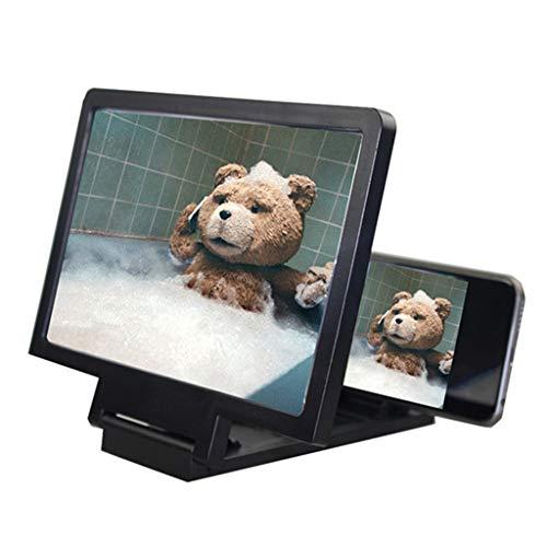 JUNESUN Bildschirm magnif 3D Film verstärker 3X Zoom vergrößert Handy Bildschirm 3D Video verstärker Strahlung Auge Schatz für handyhalter