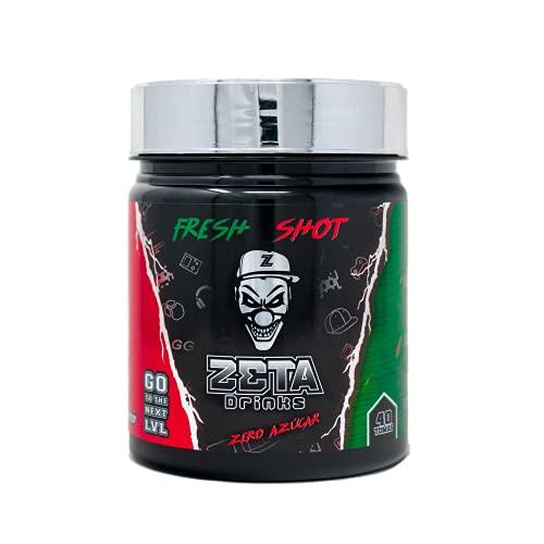 ZETA DRINKS Bebida Energética ENERGY DRINK para gamers en polvo TUBO FRESH SHOT sabor SANDÍA Energía para Esports Y Creadores 400g   40 Raciones