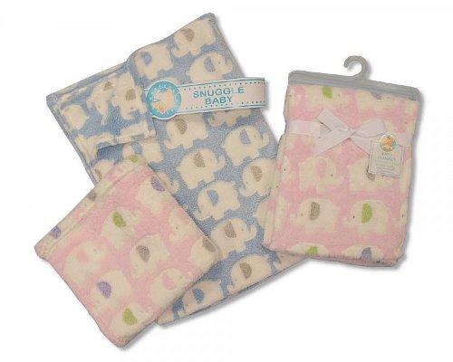 Snuggle Baby - Couverture bébé en polaire pour filles et garçons