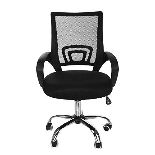 LARRY SHELL Silla ergonómica de Oficina, sillas de Escritorio para computadora con Respaldo Medio, sillas giratorias de Trabajo, Ajuste de Altura, Carga de hasta 300 LB, para Trabajo, hogar, Escuela