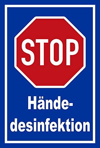 Melis Folienwerkstatt Schild Hände-desinfektion - 30x20cm - 3mm Hartschaum – 20 VAR S00225-036-F