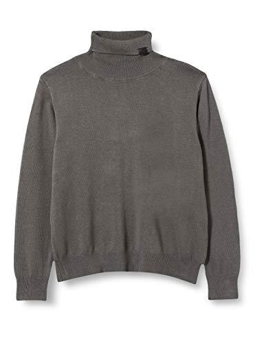 NAME IT Jungen NMMROLOS LS Rollneck Knit Rollkragenpullover, Granite Grey, 104