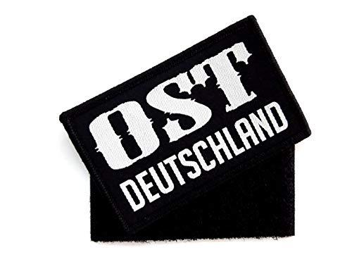 1 x Ost Deutschland Patch ca.8cm x 5cm Aufnäher mit Klettverschluss Flagge Osten Deutsch Armee Aufbügler