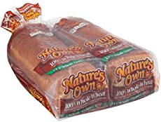 Nature's Own 100% Whole Wheat Bread 20 oz. loaf, 2 ct. (pack of 3) A1