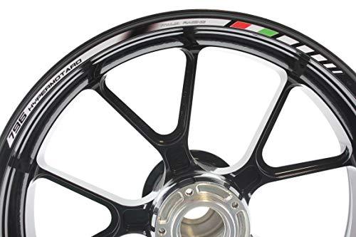 IMPRESSIATA Liserets de Jantes SpecialGP Moto Ducati Hypermotard 796 Blanche Autocollants