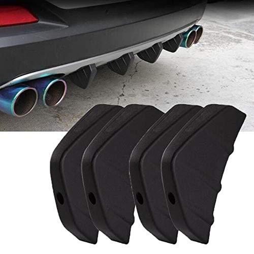 4pc Universal Car Heckstoßstange Cast Shark Spoiler for Audi A1 A2 A3 A4 A5 A6 A7 A8 Q2 Q3 Q5 Q7 S3 S4 S5 S6 S7 S8 TT TTS RS3-RS6