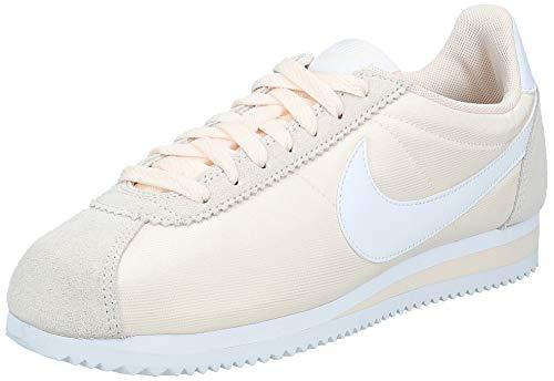 Nike Wmns Classic Cortez Nylon, Zapatillas para Mujer, Multicolor (Guava Ice/White 001), 39 EU