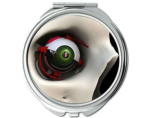 Yanteng Spiegel, kleine Spiegel, sehvermögen Auge, taschenspiegel, 1 X 115X Vergrößerung