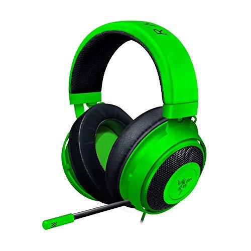 Razer Kraken Auriculares Gaming con cable para juegos multiplataforma para PC, PS4, Xbox One & Switch, Diafragma 50 mm, Cable de 3.5mm con controles de línea, Verde