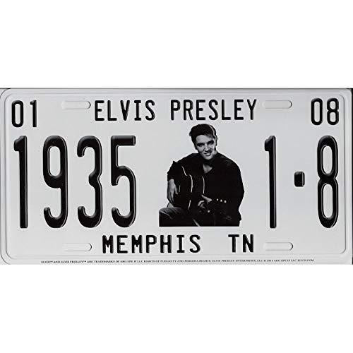 Memphis TN Metall-Kennzeichen Elvis mit Gitarre